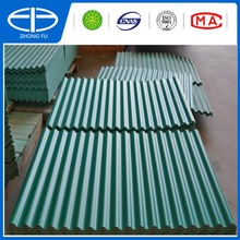 plastic corrugated sheet with different size and colour available stock