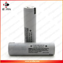 Wholesale ORIGINAL cgr 18650 ch 3.7v 2250MAH lithium battery powerful than Solar battery pk CGR18650CG electric batteries