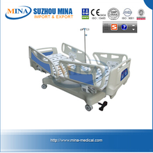 MINA-EB101-A-C HIGH QUALTIY Vertical Travelling Most Advanced five function Electric Hospital Bed with CE Approved