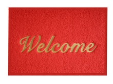 2015 new product fashion welcome PVC coil mat