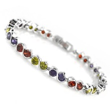 "HOT!2015 fashion European&Ameria exquisiteshinning ""S"" simple zircon & silver charm bracelet"