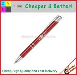 Top Quality Logo printed or Engraved Aluminum metal ballpoint pen
