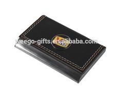 custom square leather desktop business card holder for promotion