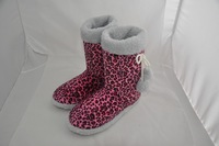 girls indoor sexy leopart pint boot warm boot for winter