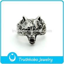 TKB-JR0119 Mens Biker Ring 316L stainless steel wolf rings