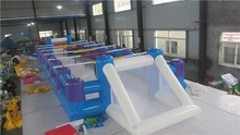 Most popular design inflatable football pitch for sale