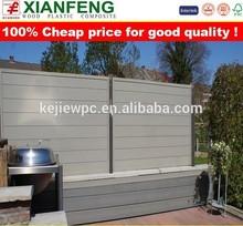 wpc garden fence,wood plastic composite fence for gardon,balcony,swimming pool,playground,