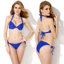2015 factory direct sale popular design ladi two piece bikini swimwear