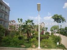 high lumen&PIR sensor integrated solar street lights , al lin one solar street light