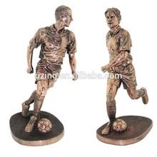 Outdoor Bronze Sculpture Football Game Sculpture UZ-SP42
