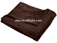 Chocolate Hem Edge Flannel Fleece Bed Sheet Blanket for New Born Baby