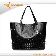 PU fashion lady designer skull bag 2015