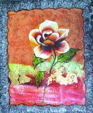 fashionable design flower handmade modern painting