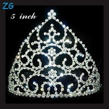 High Quality Rhinestone Queen Tiara real diamond crowns and tiaras