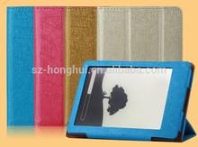 Yellow Folio leather case for amazon kindle paperwhite 2, for kindle paperwhite 2 leather case HH-EKP06(4)