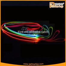 Pure color nylon led flashing spring dog leash