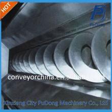 Flexible good sealing shaftless screw conveyor for grain