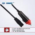 Encendedor de cigarrillos plug, 12v dc cable de alimentación del encendedor de cigarrillos del cable de alimentación