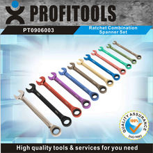 12pcs CRV colour coated function of ring spanner
