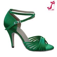 super high heel sexy lady salsa dance shoes fashion green latin dance shoes