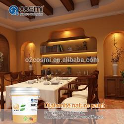 Fibre decor wall coating made of diatomaceous earth