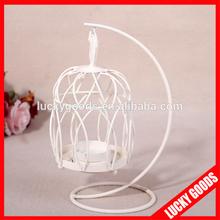 latest design decorative bird cage candle holder for sale
