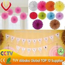 Hot sale fashion popular wedding decoration paper flower tissue paper garland