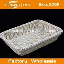 TSINGBUY Woven white plastic rattan bread/ fruit basket TSBK65