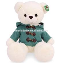 """Niuniudaddy Plush toy Teddy bear green dress Color white 27.5"""""""