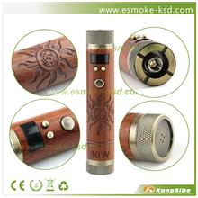 New vapor mod !!! 40w wood ecig vamo fire mod vapor
