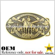 China manufacturer hign quality custom antique solid brass belt buckle