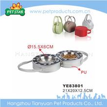 High quality folding wholesale aluminum dog bowl