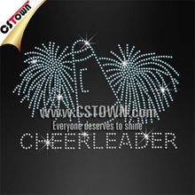 Cheerleader Super Shining Strong Glue rhinestone hot fix patterns For Garment Accessory