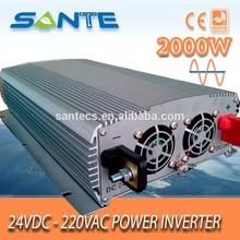 Heavy duty rated power 2000W DC24v to AC 220V sine wave solar inverter