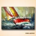 hechos a mano paisaje pintura al óleo barco