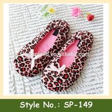 Sp-149 ballet estampado de leopardo mujeres deslizador de interior de la señora de la muchacha de baile de ballet