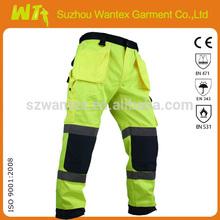 hi vis fluo-yellow/navyreflective mens work pants