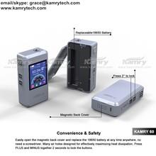 New kamry 60 box mod e cigarette vw TFT screen 7~60w Kamry60 names cigarette brands