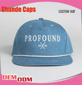 personalizado de pana snapback hat venta al por mayor de pana 5 panel de la tapa sombrero de pantalones vaqueros