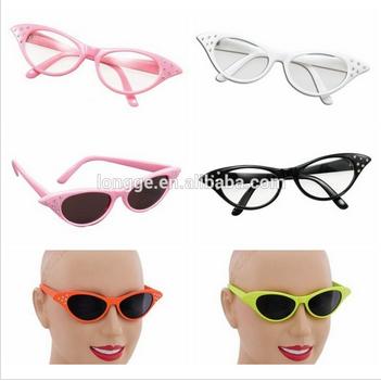 grasso 1950 stile retrò nero rosa rosso bianco occhiali da sole una taglia le donne