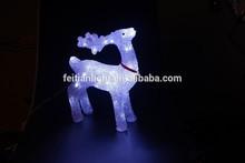 deer Outdoor attractive 3D acrylic led light holiday acrylic led holiday light CE ROHS GS