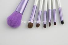 costume brush 7pcs makeup kit Purple case