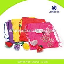 Cheap folding cute colorful fruit shopping bag