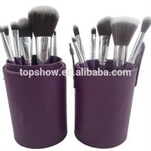 Compostable makeup brushes 12 pcs makeup brush set,Cosmetic cup case