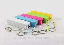 Emergency 2,600mAh USB Perfume Keychain Phone Chargers
