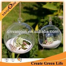 Clear Round Hanging Votive Candle Holder,Glass Terrarium Vase