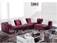 F852-2 purple mordern fabric sofa