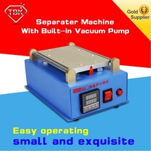 Free shipping! touch screen panel lcd separator glue disassemble machine for iphone with built-in vacuum pump