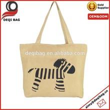 Zebra design Casual Canvas Satchel Tote Foldable Shopping Bag