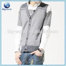 ที่กำหนดเองที่มีคุณภาพสูงปุ่มเสื้อสเวตเตอร์ถักเสื้อกันหนาวถักรูปแบบเสื้อยืด